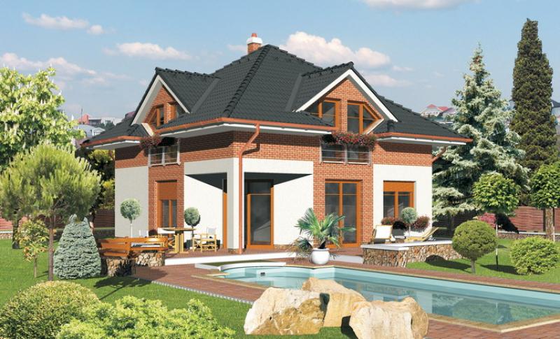 Diamant 73/182 - projekt nízkoenergetického rodinného domu