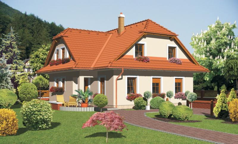 Diamant 88/121 - projekt nízkoenergetického rodinného domu