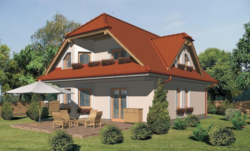 Diamant 94/98 - projekt nízkoenergetického rodinného domu