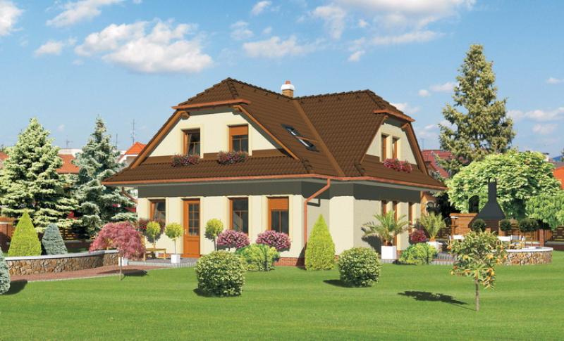 Diamant 100/35 - projekt nízkoenergetického rodinného domu