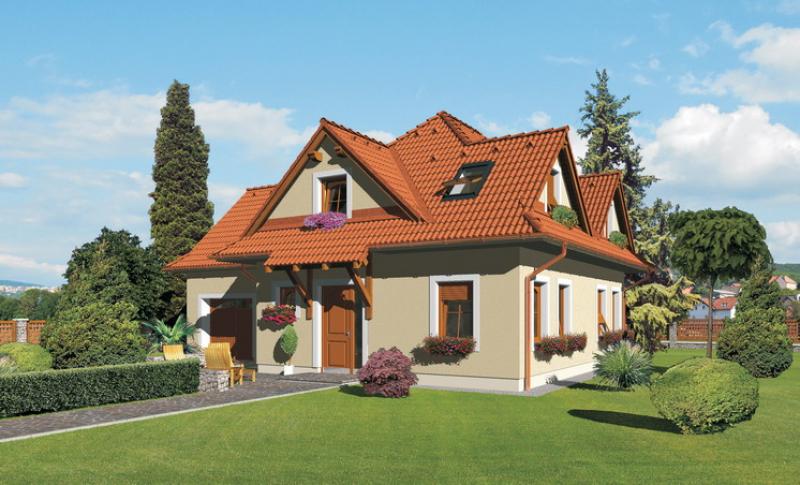 Diamant 108/117 - projekt nízkoenergetického rodinného domu