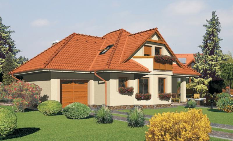 Diamant 120/37 - projekt nízkoenergetického rodinného domu