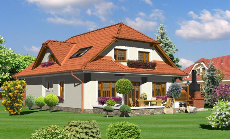 Diamant 125/38 - projekt nízkoenergetického rodinného domu