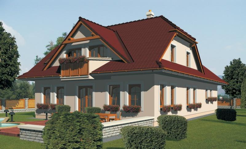 Diamant 125/78 - projekt nízkoenergetického rodinného domu