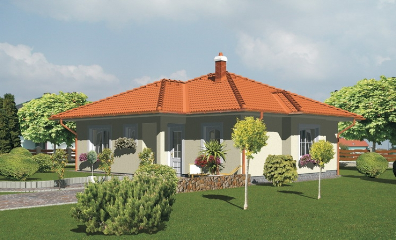 Opál 51/131 - projekt nízkoenergetického rodinného domu