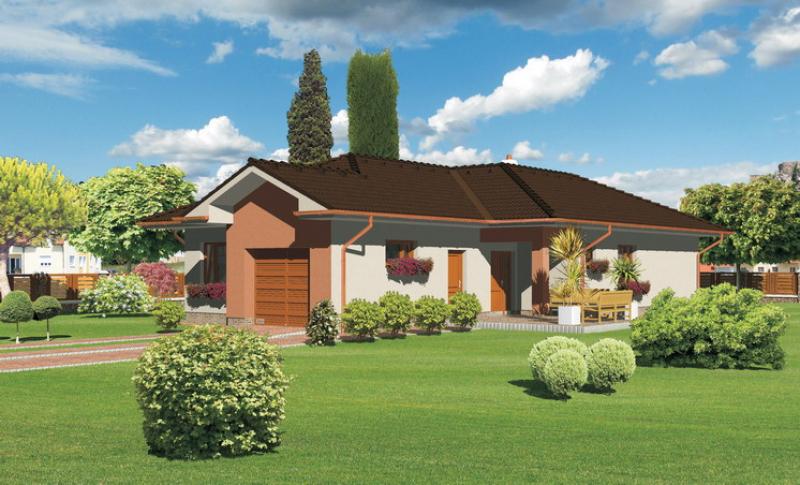 Opál 65/231 - projekt nízkoenergetického rodinného domu
