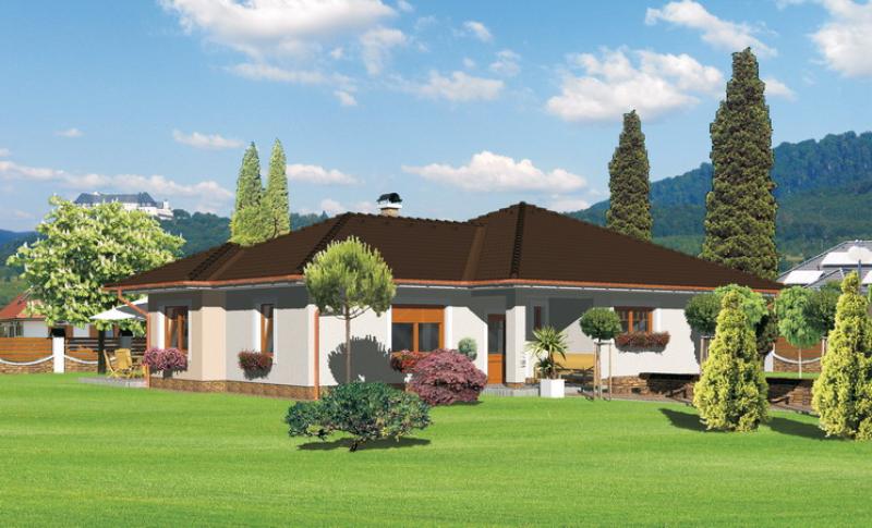 Opál 94/154 - projekt nízkoenergetického rodinného domu