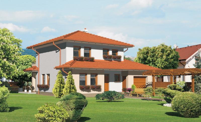 Smaragd 74/238 - projekt nízkoenergetického rodinného domu
