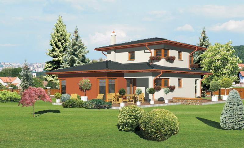Smaragd 81/239 - projekt nízkoenergetického rodinného domu