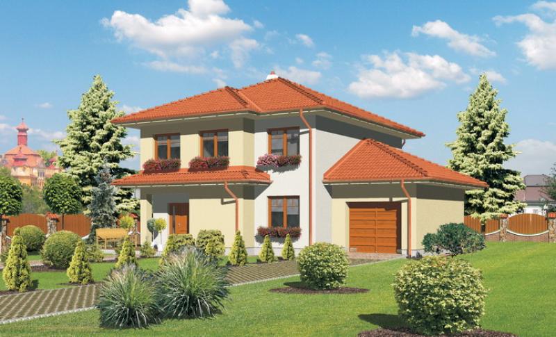 Smaragd 85/196 - projekt nízkoenergetického rodinného domu