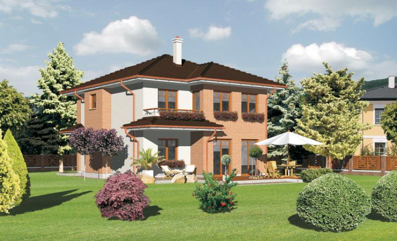 Smaragd 86/197 - projekt nízkoenergetického rodinného domu