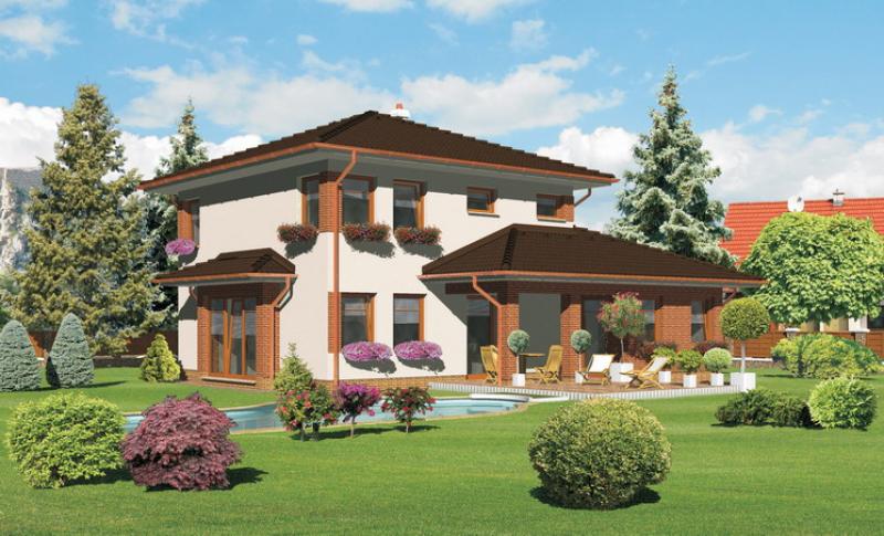 Smaragd 86/240 - projekt nízkoenergetického rodinného domu