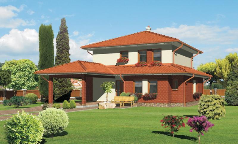 Smaragd 88/241 - projekt nízkoenergetického rodinného domu