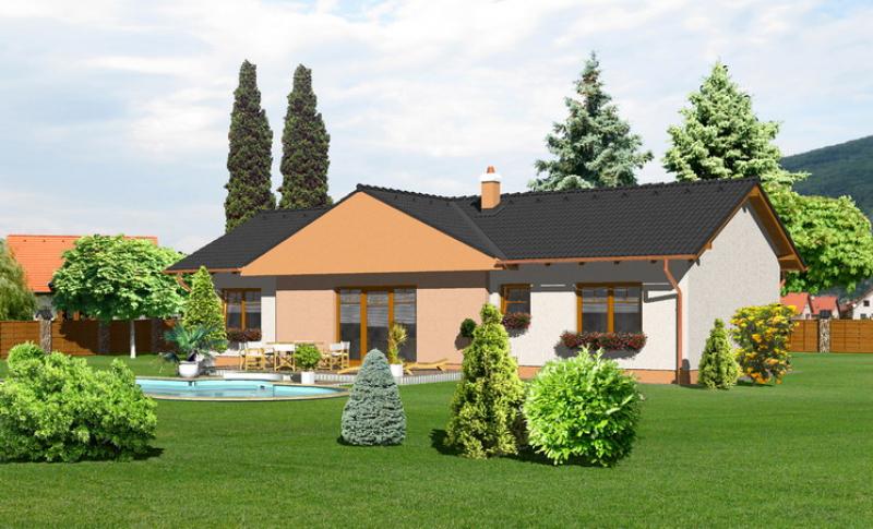 Opál 64/253 - projekt nízkoenergetického rodinného domu