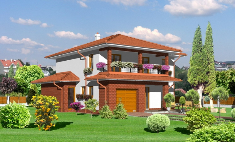 Smaragd 79/258 - projekt nízkoenergetického rodinného domu