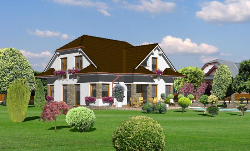 Diamant 111/265 - projekt nízkoenergetického rodinného domu