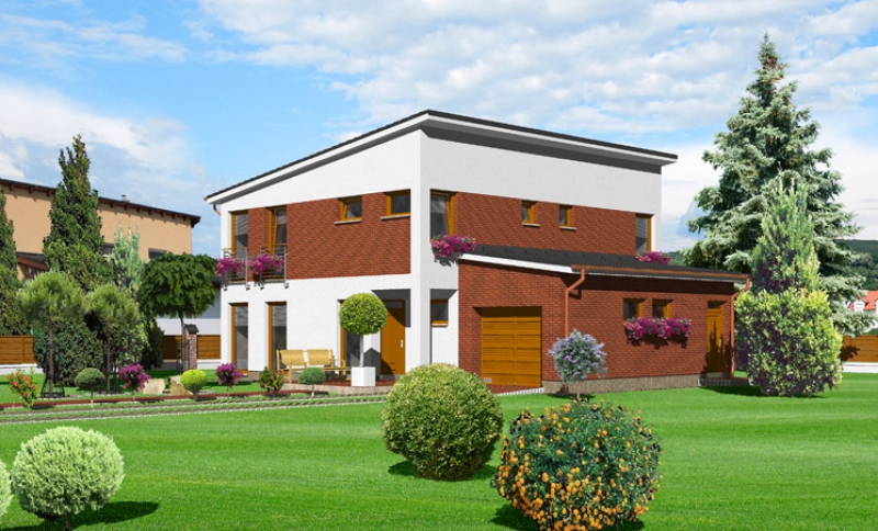 Tyrkys 106/284 - projekt nízkoenergetického rodinného domu