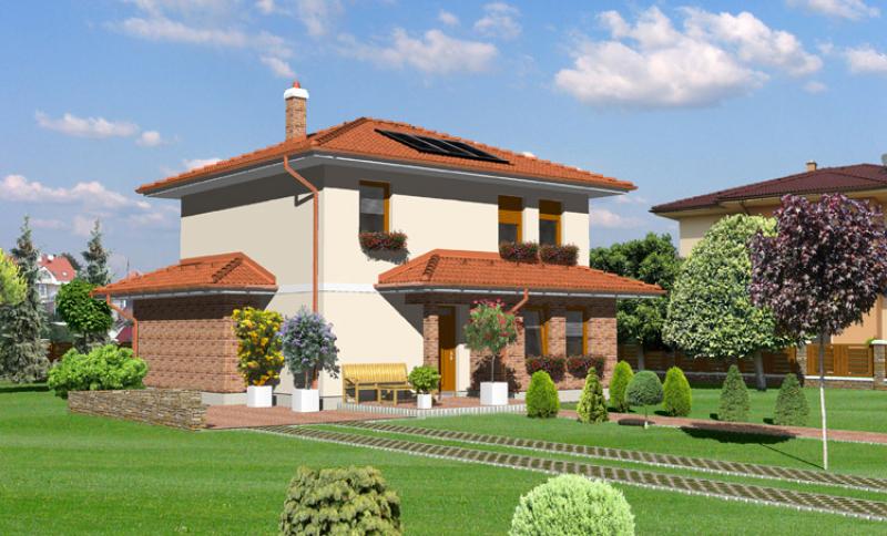 Smaragd 73/298 - projekt nízkoenergetického rodinného domu