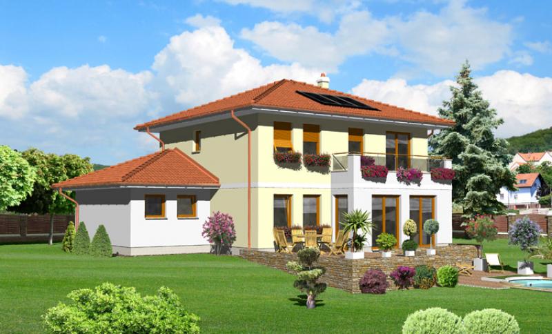 Smaragd 92/299 - projekt nízkoenergetického rodinného domu