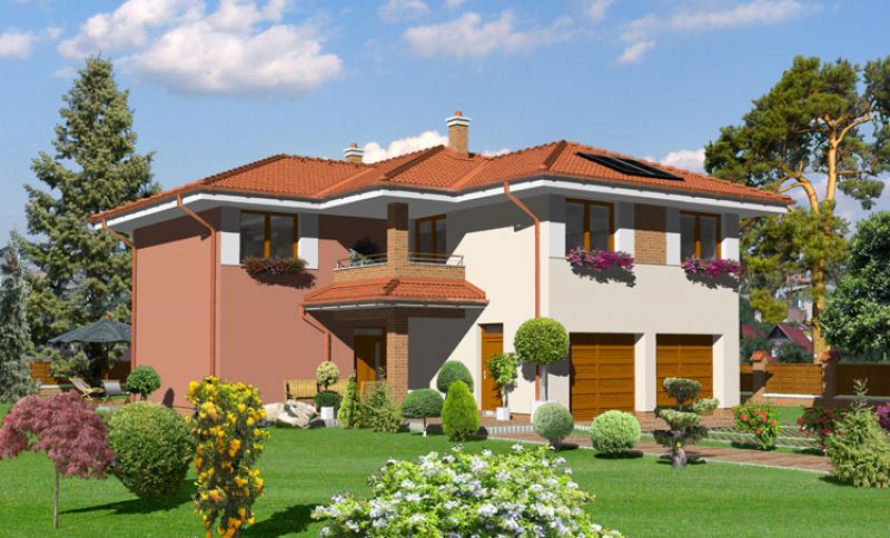 Smaragd 135/304 - projekt nízkoenergetického rodinného domu