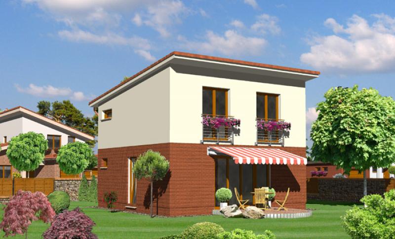 Tyrkys 55/317 - projekt nízkoenergetického rodinného domu