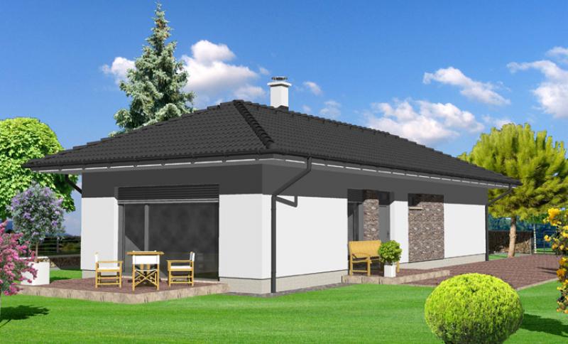 Opál 54/342 - projekt nízkoenergetického rodinného domu