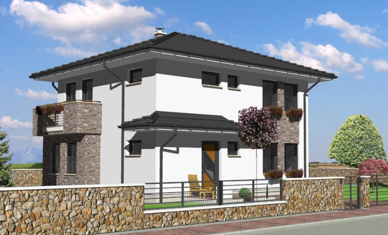 Smaragd 87/345 - projekt nízkoenergetického rodinného domu