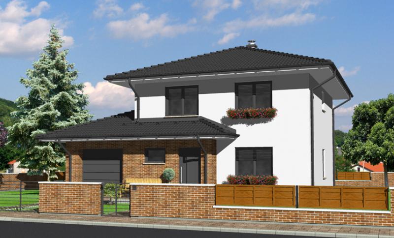 Smaragd 80/364 - projekt nízkoenergetického rodinného domu