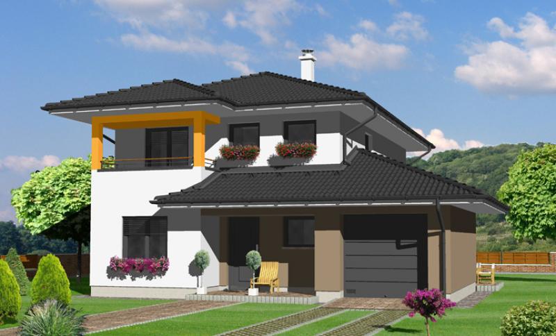 Smaragd 81/365 - projekt nízkoenergetického rodinného domu