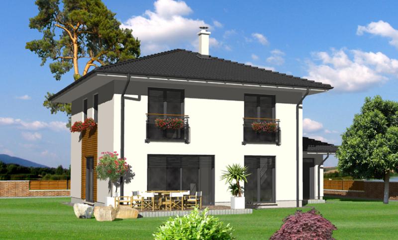 Smaragd 92/366 - projekt nízkoenergetického rodinného domu